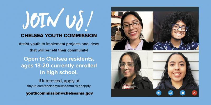 Apply today! Join Chelsea Youth Commission!